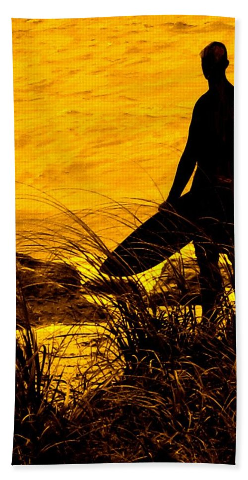 Florida Hand Towel featuring the photograph Last Surfer Standing by Ian MacDonald