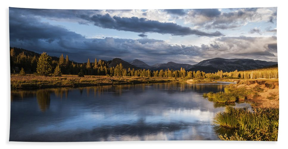 California Hand Towel featuring the photograph Late Afternoon On The Tuolumne River by Cat Connor