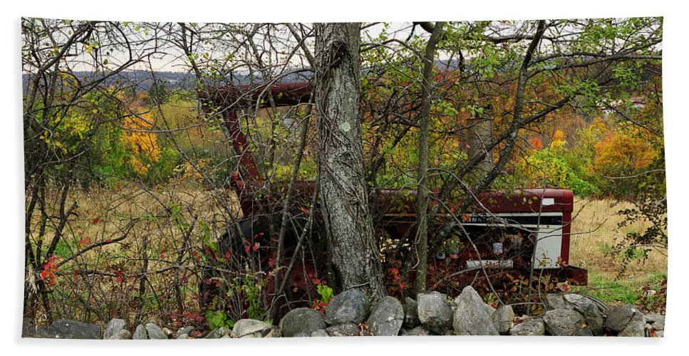 Tractor Hand Towel featuring the photograph Late October by Luke Moore