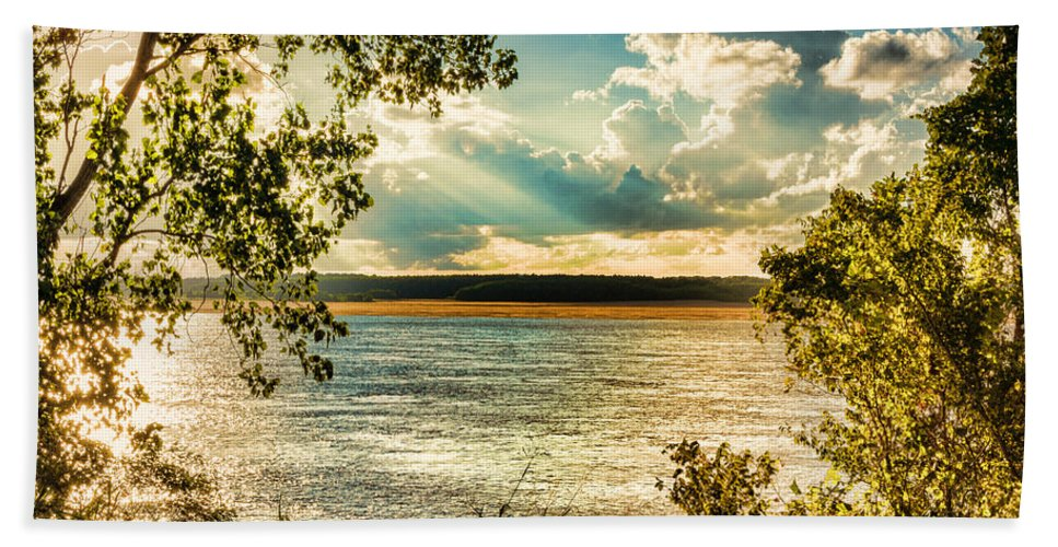 Casino Bath Sheet featuring the photograph Late Summer Afternoon On The Mississippi by Jon Woodhams