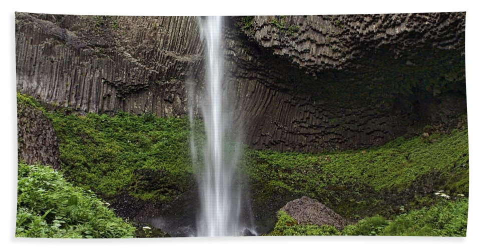Latourelle Falls Hand Towel featuring the photograph Latourelle Falls by Wes and Dotty Weber