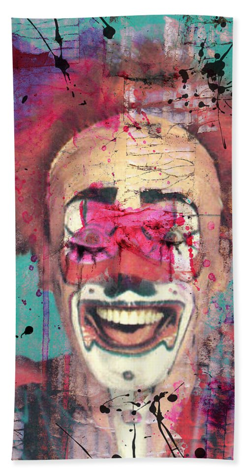 Clown Hand Towel featuring the photograph Laughter I Purge by The Artist Project