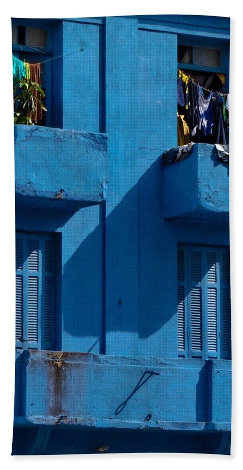 Blue Bath Sheet featuring the photograph Laundry - Sao Paulo by Julie Niemela