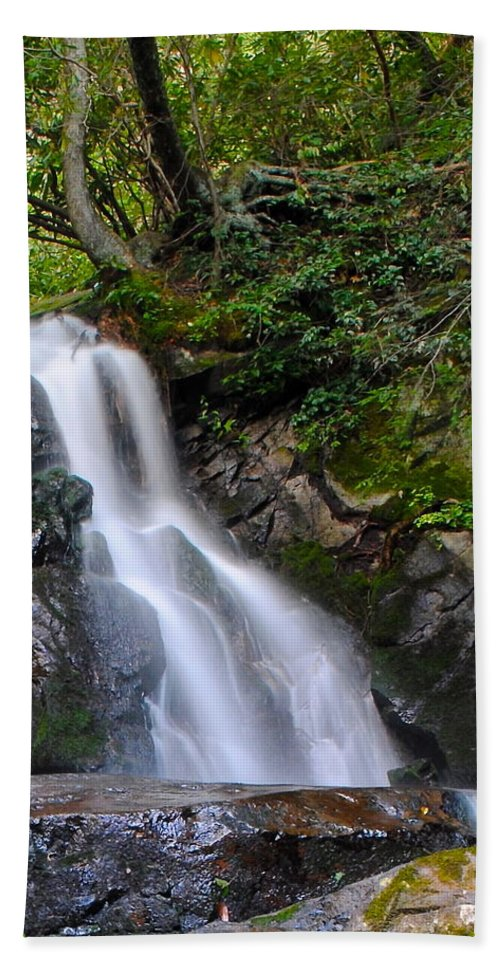 Laurel Hand Towel featuring the photograph Laurel Falls by Frozen in Time Fine Art Photography
