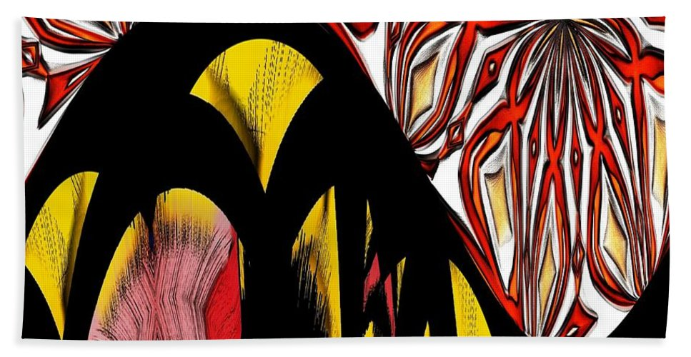 Lava Hand Towel featuring the digital art Lava Flow by Alec Drake