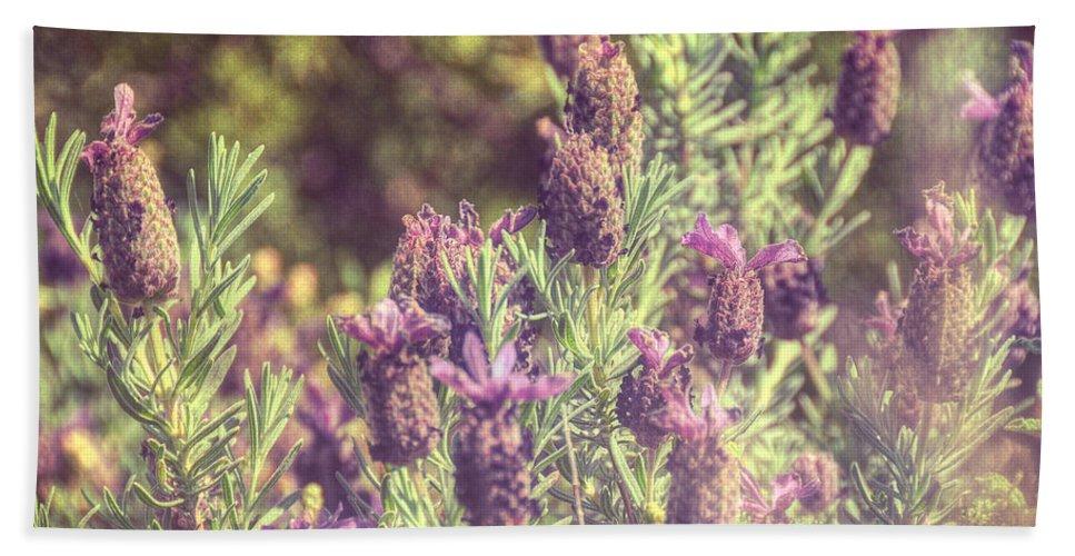Nature Hand Towel featuring the photograph Lavandula Stoechas by Zapista