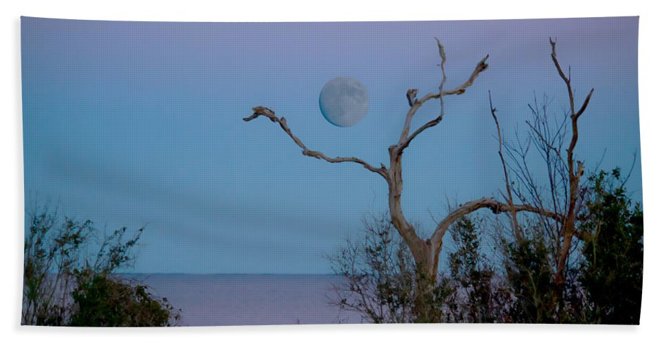 Lavendar Bath Sheet featuring the photograph Lavendar Moon by Paula OMalley