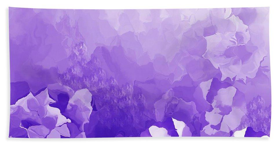 Fine Art Bath Sheet featuring the digital art Lavender Fantasy by David Lane