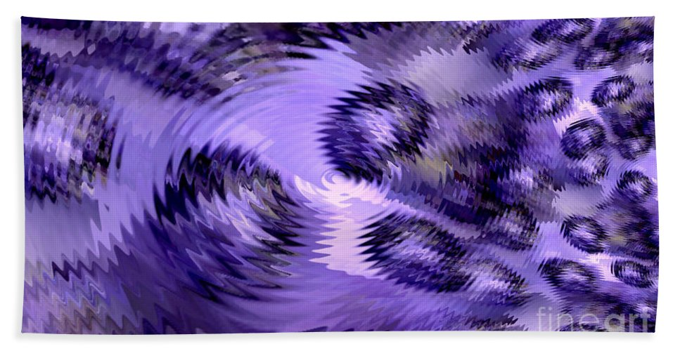 Lavender Water Abstract Hand Towel featuring the digital art Lavender Water Abstract by Maria Urso