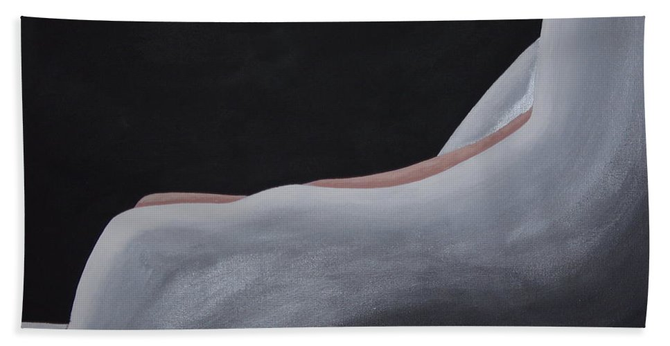 Nude Hand Towel featuring the painting Layers I by Dean Stephens