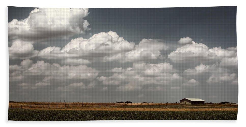 Joan Carroll Hand Towel featuring the photograph Lbj Ranch In Texas by Joan Carroll