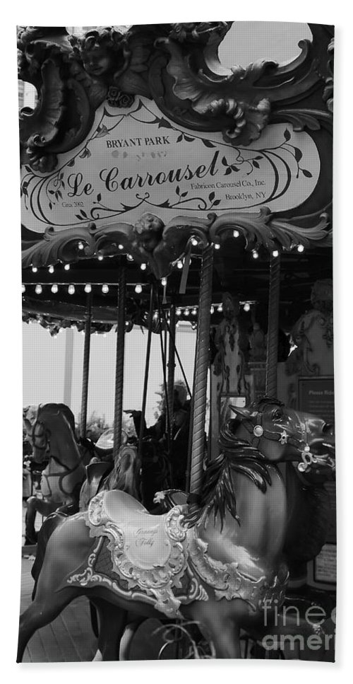 New York City Hand Towel featuring the photograph Le Carrousel by David Rucker