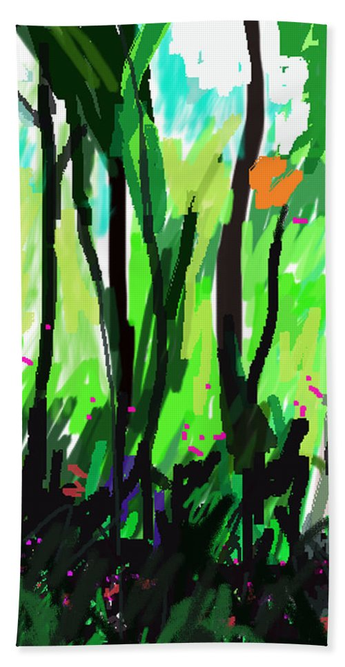 Forest Bath Sheet featuring the painting Le Mystic by Paul Sutcliffe