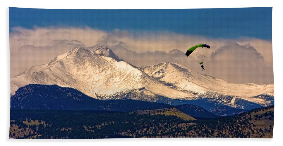 Oulder County Hand Towel featuring the photograph Leap Of Faith by James BO Insogna