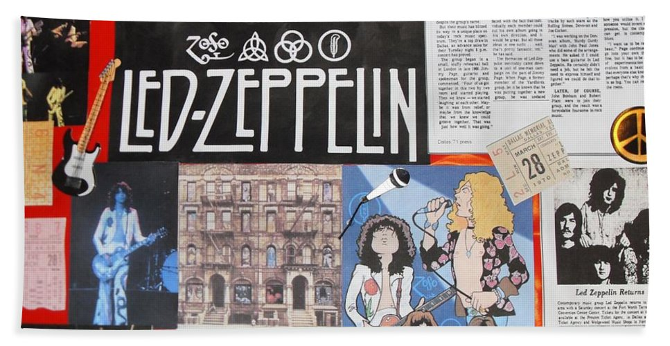 Led Zeppelin Bath Sheet featuring the photograph Led Zeppelin Past Times by Donna Wilson