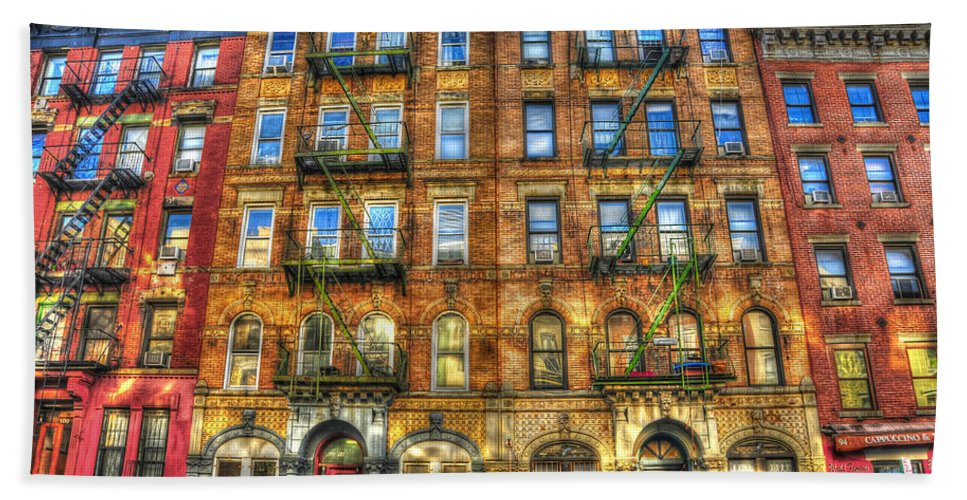 Led Zeppelin Hand Towel featuring the photograph Led Zeppelin Physical Graffiti Building In Color by Randy Aveille
