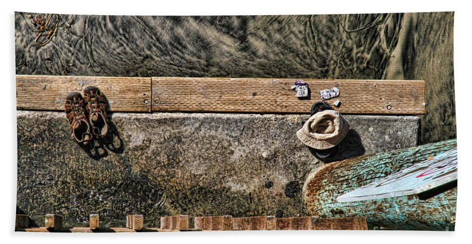 Beach Bath Sheet featuring the photograph Left Behind By Diana Sainz by Diana Raquel Sainz