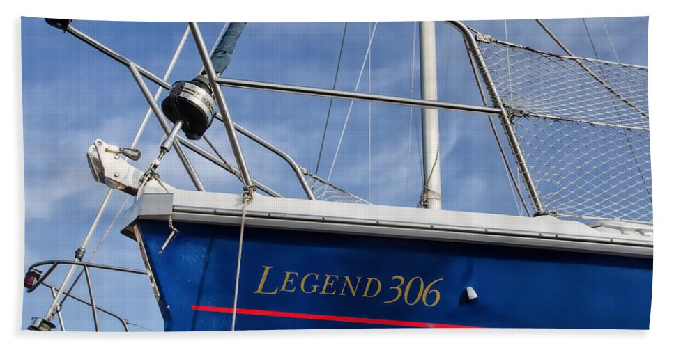 Dry-dock Hand Towel featuring the photograph Legend 306 by Susie Peek