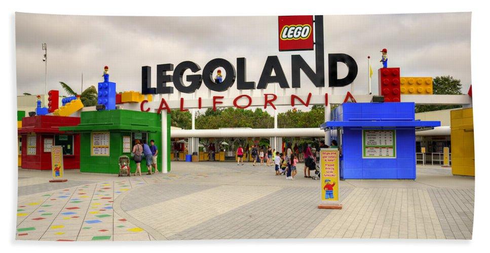 Legoland Hand Towel featuring the photograph Legoland California by Ricky Barnard