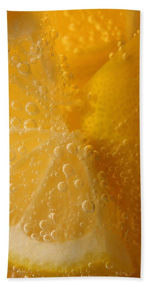 Lemon Bath Sheet featuring the photograph Lemon 45 by John Brueske