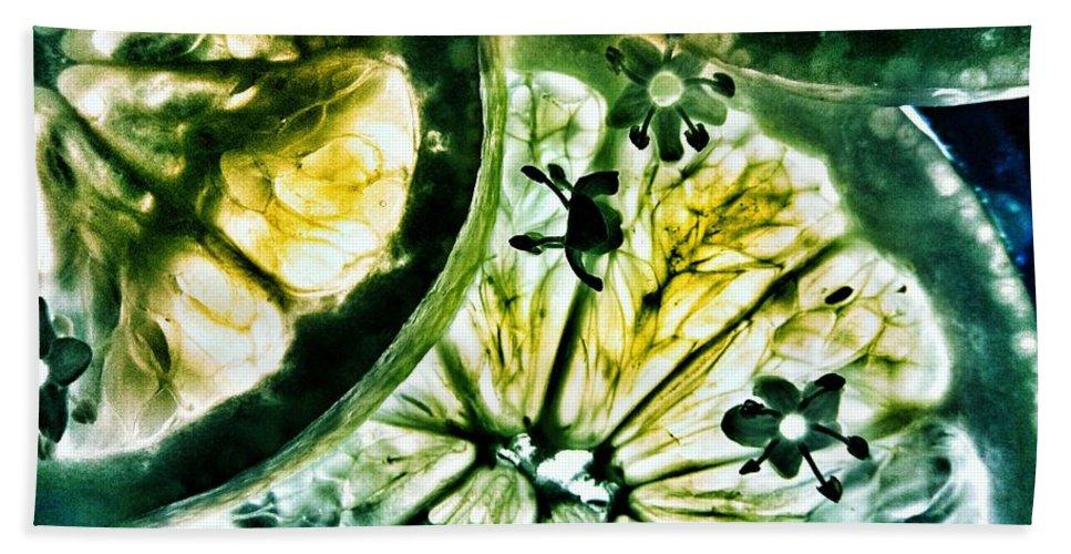 Elderflower Hand Towel featuring the photograph Lemon And Elderflower by Marianna Mills