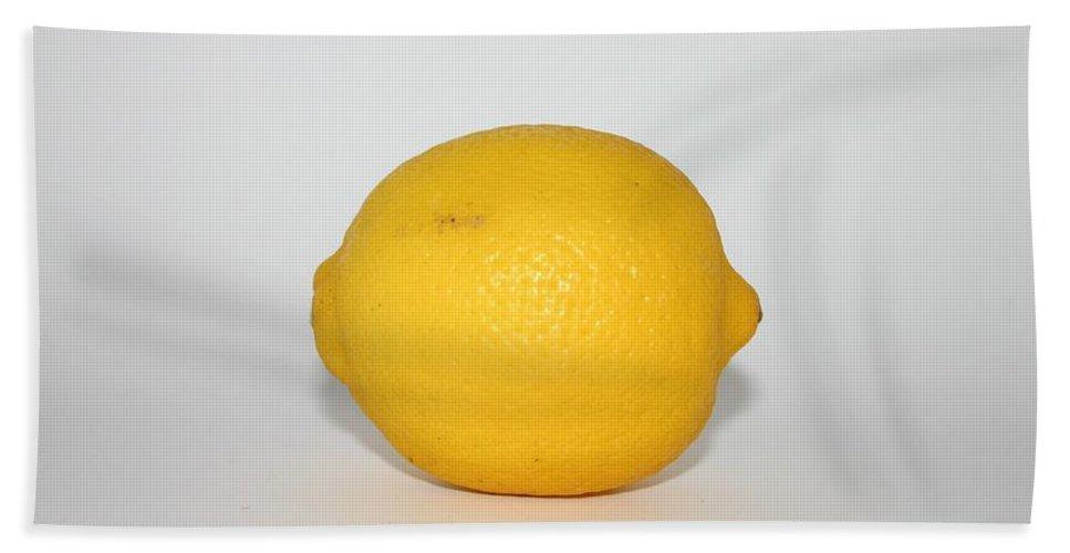 Lemon Bath Sheet featuring the photograph Lemon by FL collection