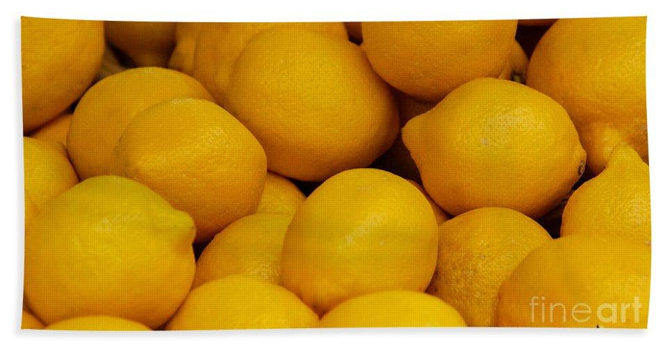 Lemons Hand Towel featuring the photograph Lemons by Grace Grogan
