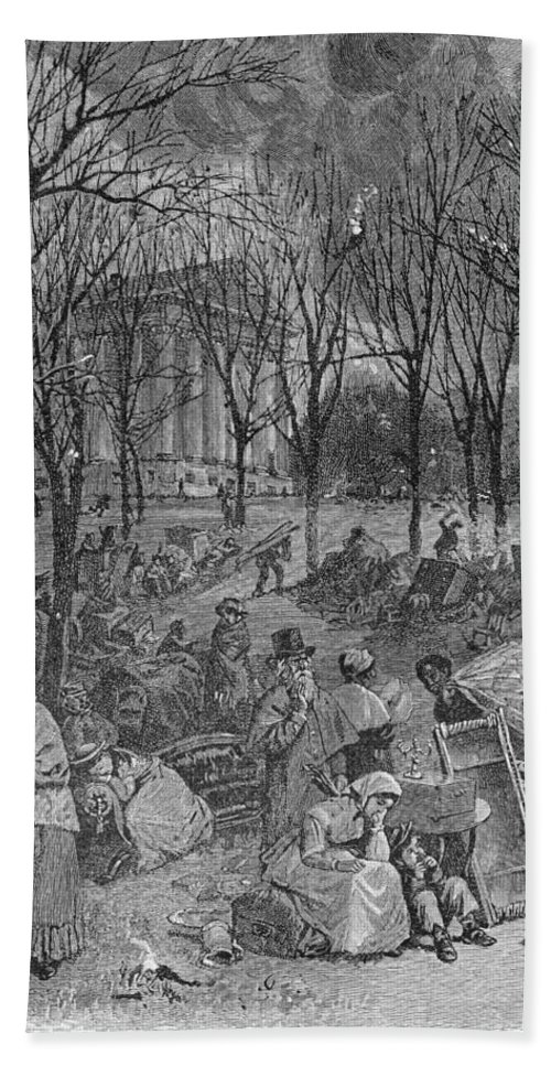 Town Hall Hand Towel featuring the photograph Lenox, Massachusetts, From Historical Collections Of Massachusetts, John Warner Barber, Engraved by John Warner Barber