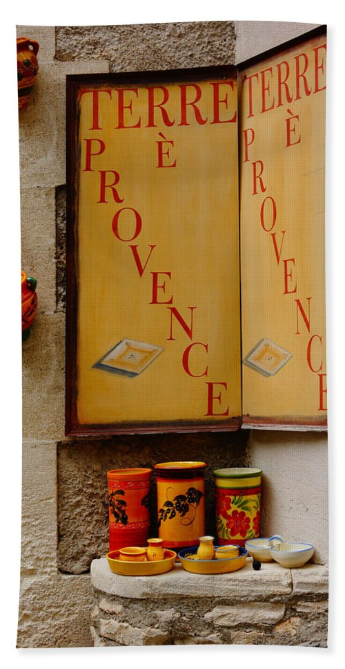 Pottery Hand Towel featuring the photograph Les Baux De Provence France Dsc01931 by Greg Kluempers