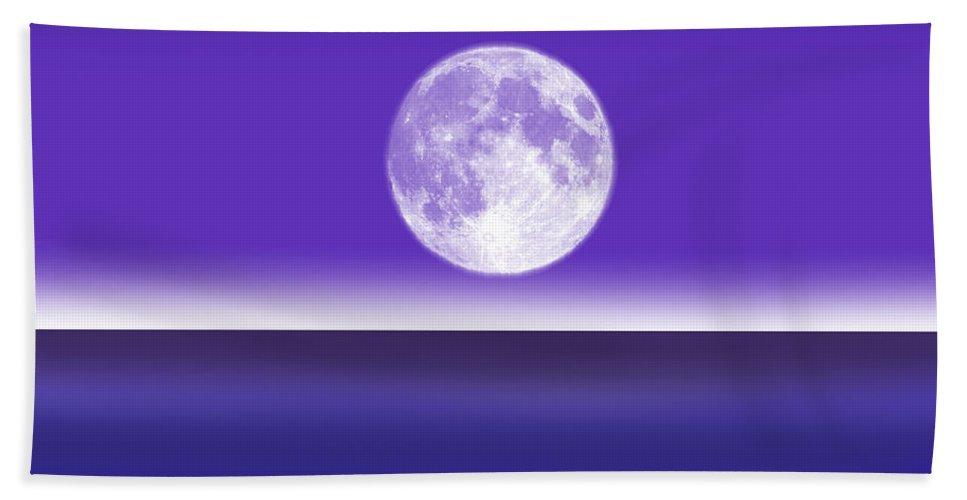 Blue Sky Bath Sheet featuring the digital art Less...........is More. by Peter Stevenson