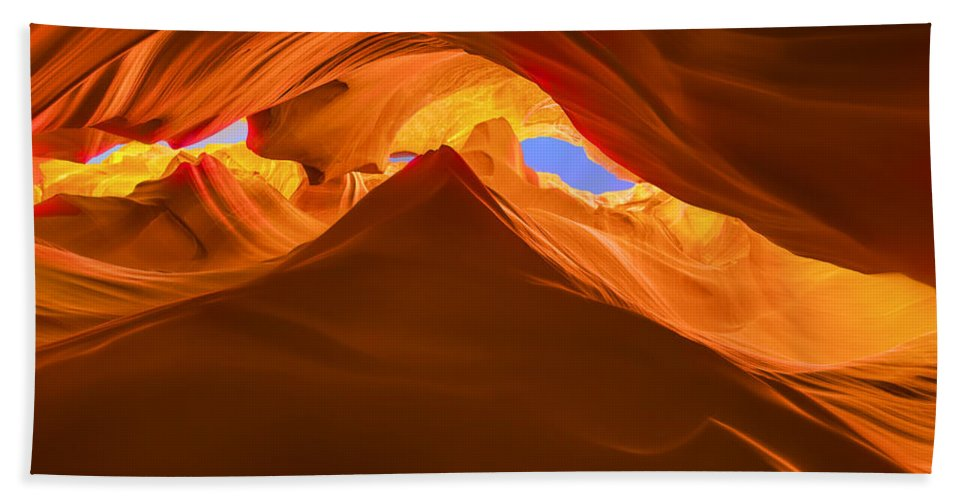 5 Canyons Hand Towel featuring the photograph Let The Sunshine In The Canyons by Angela Stanton