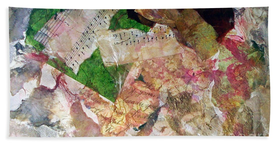 Water Color Collage Bath Sheet featuring the painting Let The Two Of Us Be One by Yael VanGruber