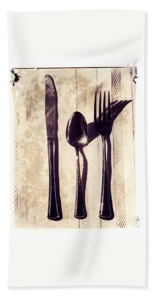 Forks Bath Towel featuring the photograph Lets Eat by Jane Linders
