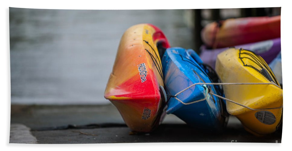 Kayak Hand Towel featuring the photograph Lets Go Kayaking by Dale Powell