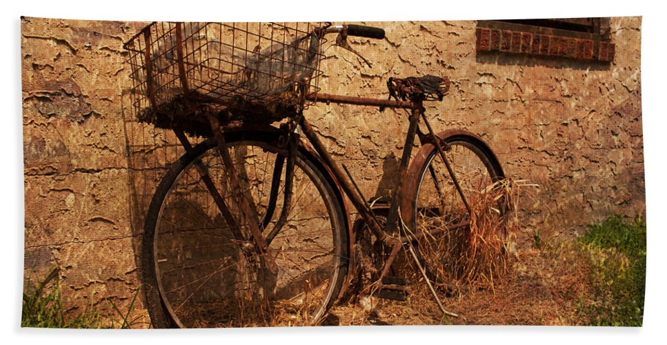 Bicycle Hand Towel featuring the photograph Let's Go Ride A Bike by Michael Porchik