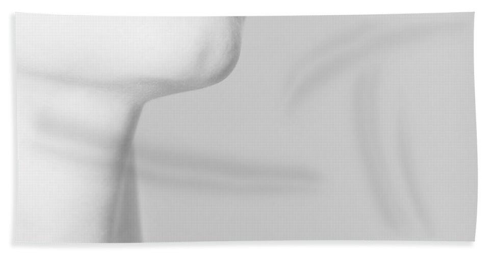 Black Bath Towel featuring the photograph Levres noires by Zapista OU