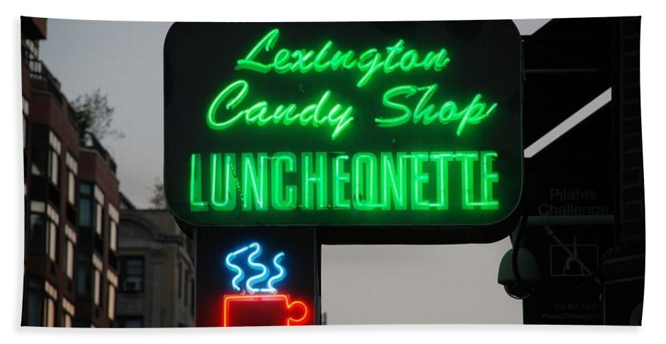 Scenic Hand Towel featuring the photograph Lexington Candy Shop by Rob Hans