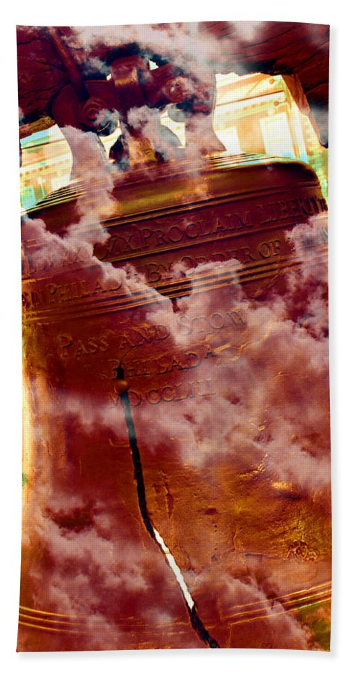 4th Of July Bath Sheet featuring the photograph Liberty Bell 3.1 by Stephen Stookey