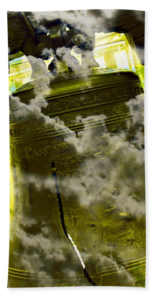 4th Of July Bath Sheet featuring the photograph Liberty Bell 3.2 by Stephen Stookey