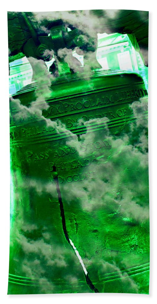 4th Of July Bath Sheet featuring the photograph Liberty Bell 3.3 by Stephen Stookey