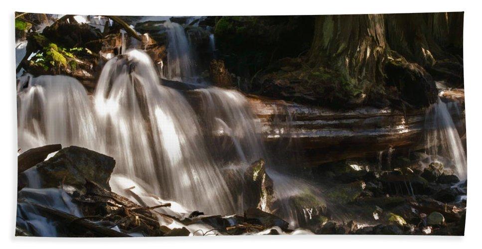 Mountain Bath Sheet featuring the photograph Life Begins To Flow by Jordan Blackstone