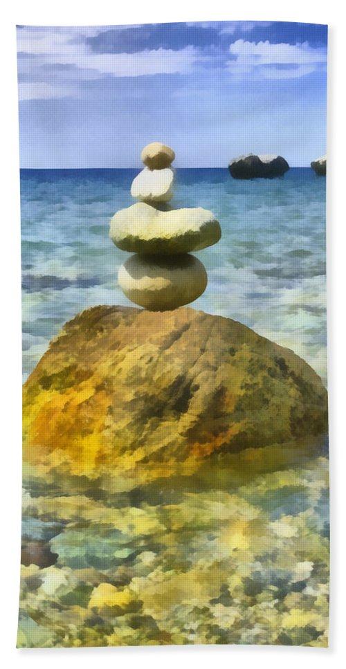 Balance Hand Towel featuring the digital art Life In Balance by Roy Pedersen