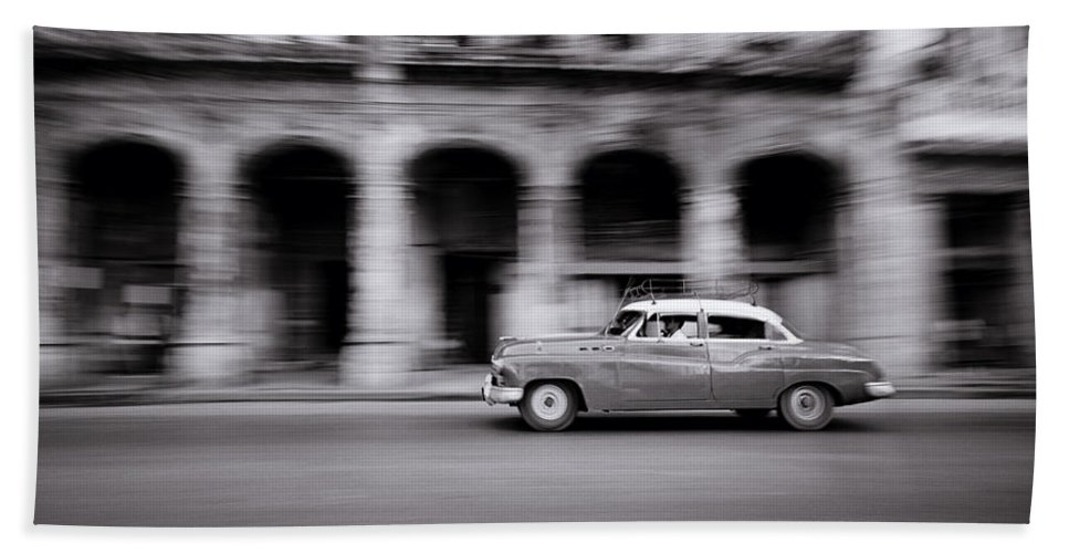 Speed Bath Sheet featuring the photograph Life In Havana by Shaun Higson
