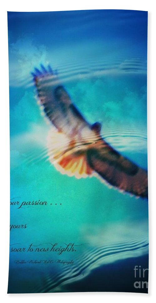 Life Hand Towel featuring the photograph Life Reflects Our Passion by Bobbee Rickard