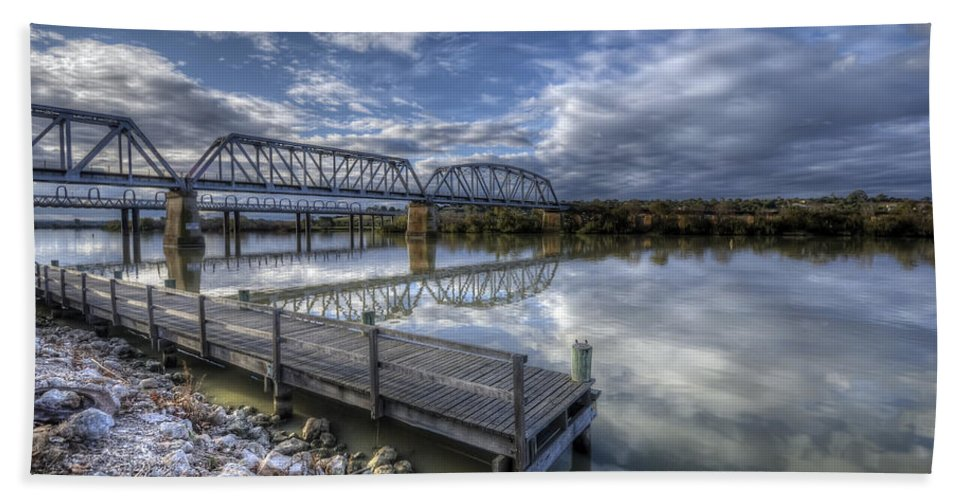 Murray River Hand Towel featuring the photograph Lifeblood by Wayne Sherriff