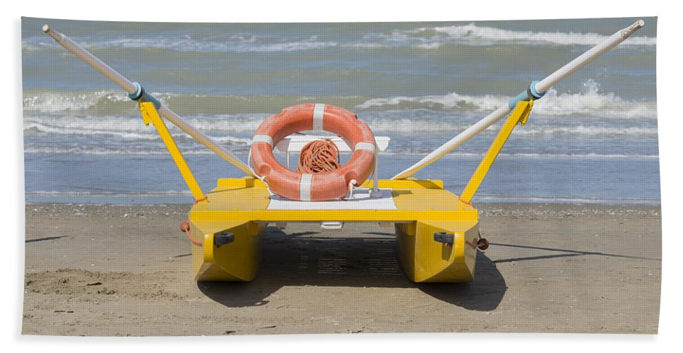 Lifeboat Bath Sheet featuring the photograph Lifeboat by Mats Silvan