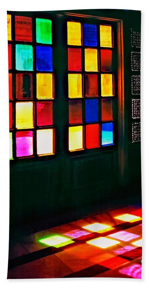 Doors Hand Towel featuring the photograph Light Entrance by Steve Harrington