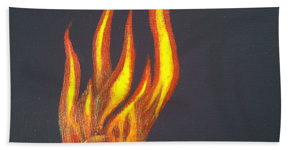 Fire Bath Sheet featuring the painting Light In The Darkness by Carol De Bruyn
