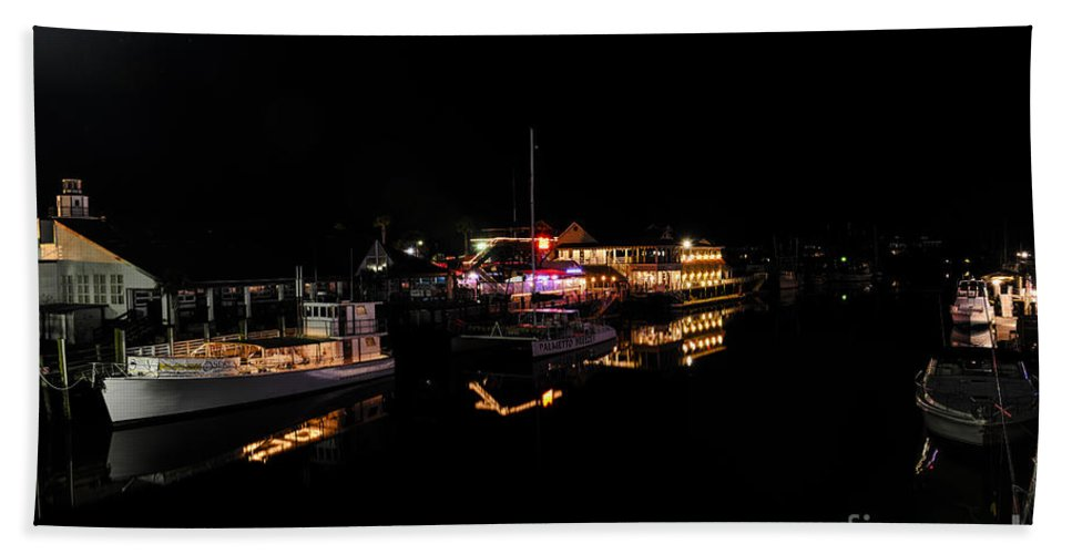 Shem Creek Hand Towel featuring the photograph Light It Up by Dale Powell