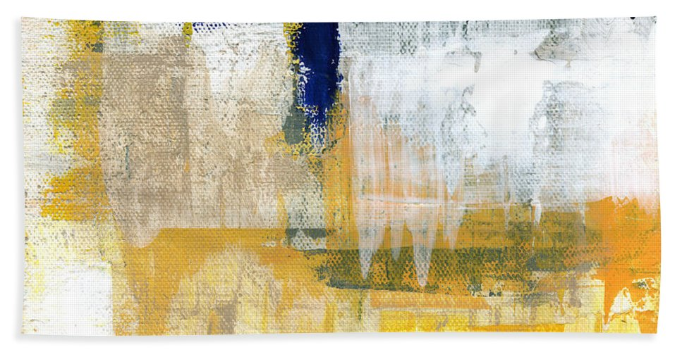 Abstract Hand Towel featuring the painting Light Of Day 2 by Linda Woods
